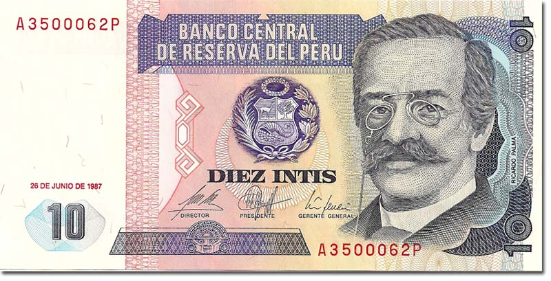 Hell So Famous Has He Become That His Own Visage Been Imprinted On Some Of Peru S Currency